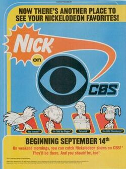 Nick on cbs print ad