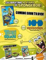 Spongebob SquarePants 10 Years Trade Print Ad