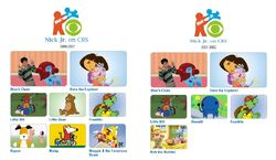 Nick Jr on CBS Line-Up 2000-2002 2
