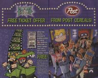The Rugrats Movie Ticket Post Print Ad