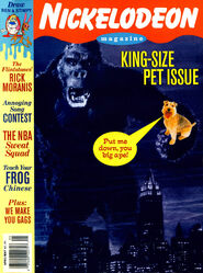 Nickeodeon Magazine cover April May 1994 King Kong