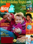 Nick Jr Family Magazine cover Nov 2004
