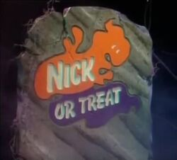 Nick or Treat logo grave