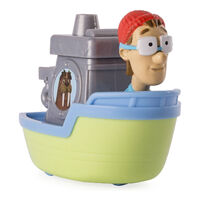 PAW Patrol Cap'n Turbot Captain Turbot in the Flounder Boat Toy Figure Rescue Racers