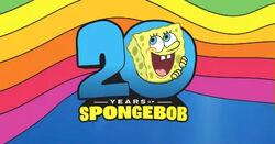 SpongeBob's 20th anniversary logo