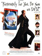 A series of unfortunate events movie DVD print ad NickMag May 2005