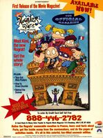 Rugrats in Paris Official Movie Magazine print ad NickMag Nov 2000