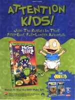 Rugrats Movie on video Advertisement