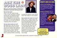 Nickelodeon Magazine February 1996 Ask the Boss Lady Geraldine Laybourne interview