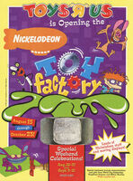 Nickelodeon Toy Factory Toys R Us print ad Nick Mag Sept 1995