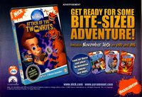 Jimmy Neutron Attack Twonkies DVD print ad Nick Mag Nov 2004