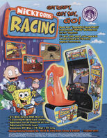Nicktoons racing arcade game print ad