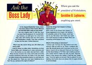 Ask the Boss Lady Geraldine Laybourne Nick Mag Dec Jan 1995