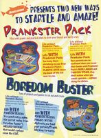 Prankster Pack Boredom Buster print ad Nick Mag Oct 1995