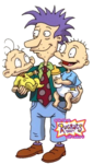 Rugrats-Pickles Boys Stu Pickles Tommy Pickles and Dil Pickles