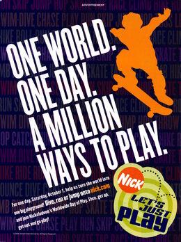 Worldwide Day of Play advertisement Nickelodeon Magazine September 2005