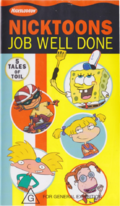 Nicktoons Job Well Done VHS
