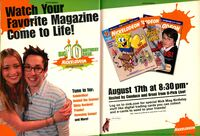 Nickelodeon Magazine Big 10 Birthday Bash print ad Aug 2003