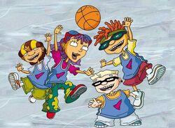 Rocket Gang Playing Basketball