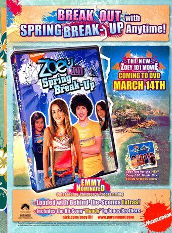 Spring Break Up Zoey 101 Episode Nickelodeon Fandom