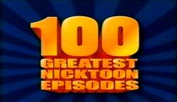 100 Greatest Nicktoons Title