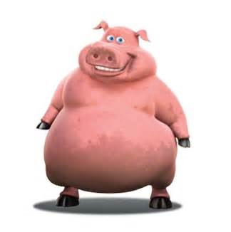 Pig Back At The Barnyard Character
