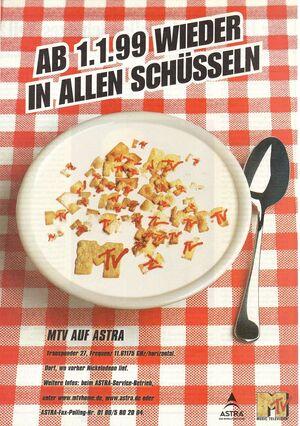 MTV Werbeanzeige - 1.1.99