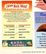 Nickelodeon Magazine May 2001 Grampa Julie Shark Hunters spanish