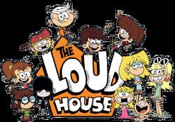 The Loud House logo with Loud siblings