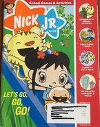 Nick Jr Magazine cover Sept 2008