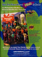 Nickelodeon Magazine advertisement may 2001 Nickelodeon Studios Universal