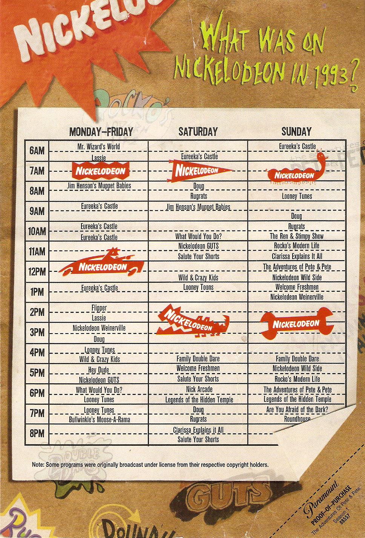 Schedule 1993   Nickelodeon   FANDOM powered by Wikia