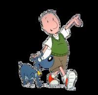 Doug and Porkchop walking