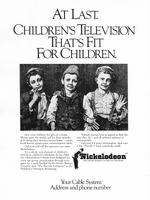 Nickelodeon first print advertisement