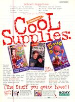 Cool Supplies print ad Nick Mag Aug Sept 1994 Clarissa Pete Doug