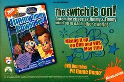 Jimmy Timmy Power Hour DVD advertisement Nickelodeon Magazine May 2004