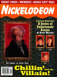 Nickelodeon Magazine cover December January 2005 series unfortunate events