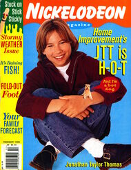 Nickelodeon Magazine cover February 1996 Jonathan Taylor Thomas Home Improvement