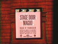 Stage Door Magoo Title Card