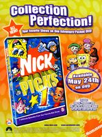 Nick Picks 1 DVD print ad NickMag May 2005