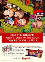 Rugrats movie Campbells soup print ad Nick Mag Nov 1998