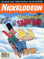Nickelodeon Magazine cover January February 1998 Hey Arnold
