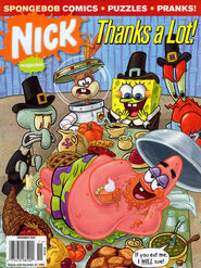 Nick Magazine November 2009 SpongeBob Thanks a Lot