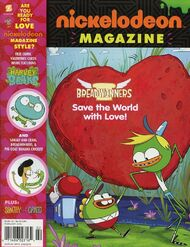 Nickelodeon Magazine cover February 2016 Breadwinners