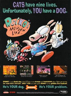 Rocko's Modern Life Spunky's Dangerous Day Print Advertisement