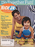 Nick Jr Family Magazine cover June July 2005