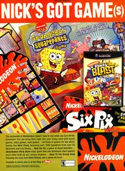 Nickelodeon Party Blast print ad Nick Mag Oct 2002