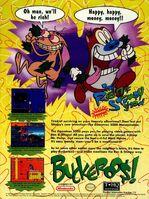 Ren & Stimpy Buckaroo$! Print Advertisement