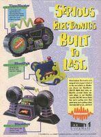 Nickelodeon Electronics TimeBlaster BlastPak print ad Nick Mag Oct 1995