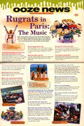 Nickelodeon Magazine November 2000 Ooze News Rugrats in Paris Movie music